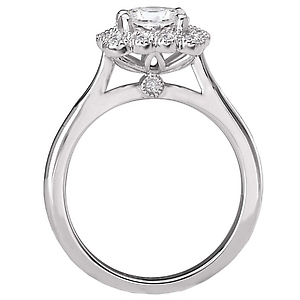 119129-100 Halo Semi-Mount Diamond Ring